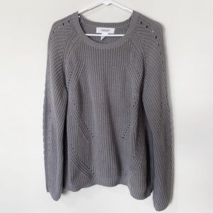 Workshop Republic Clothing Grey Knit Sweater Sz L